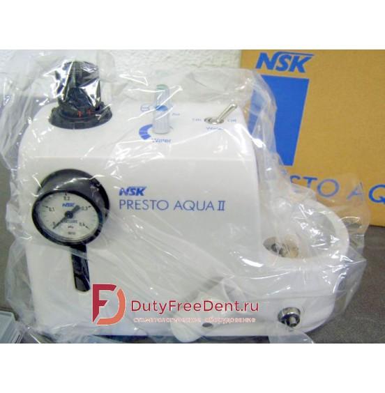 PRESTO AQUA  LUX- не требующий смазки турбинный наконечник с системой подачи воды и LED подсветкой y1001151 Престо Аква NSK