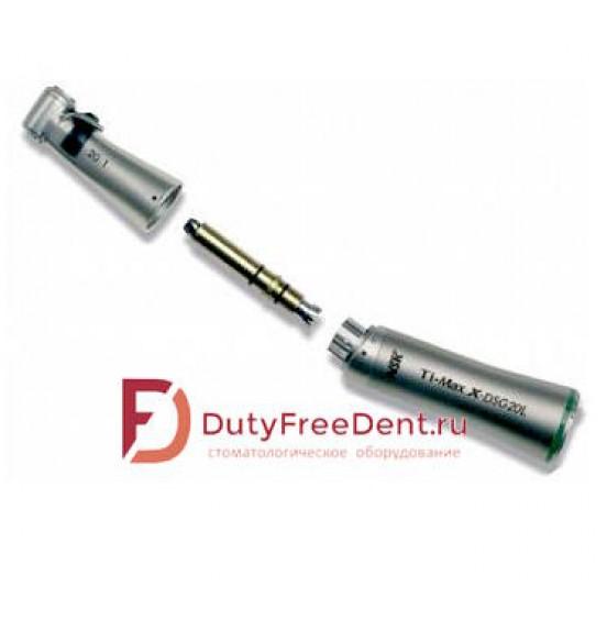 TI-MAX X-DSG20L  - наконечник хирургический угловой разборный  20:1 с оптикой  для физиодиспенсера Ти-макс титановый C1068 NSK
