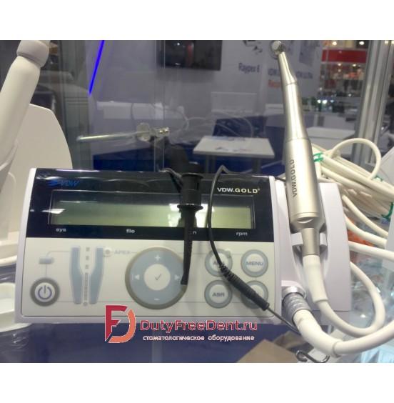 GOLD RECIPROC - эндодонтический мотор с апекслокатором и функцией RECIPROC и наконечником Sirona 6:1  VDW