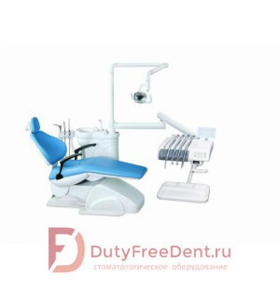 Azimut 100A - стоматологическая установка с верхней подачей инструментов и одним стулом