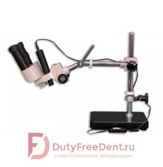 BM-1 - бинокулярный стереомикроскоп для зубных техников, с вольфрамовым осветителем падающего света