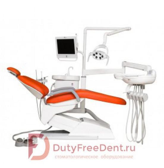 VICTOR V100 (AM8015) - стоматологическая установка с нижней/верхней подачей инструментов, с мягкой кожаной обивкой