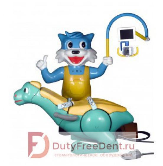 Yoboshi N 3000 - стоматологическая установка детская с нижней подачей инструментов, с котом